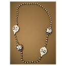 50TH BIRTHDAY BEADED NECKLACE (BL/WH)