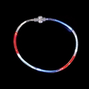 Partypro ZPFLNEC Red, White, Blue 22In. Flashing Necklace
