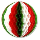 RED WHITE GREEN TISSUE BALL 14 INCH