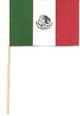 Partypro 50983 Mexican Handheld Flag (4X6 In.)