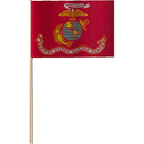 Partypro FL400-04 Us Marine Corps Flag (Cloth) 4X6 In.