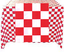 Partypro 54108RW 54X108In. Red Checkered Tablecover