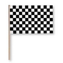 BLACK CHECK FLAG-4X6 PLASTIC EA (WOOD ST