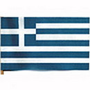 Partypro FL130-06 Greece Handheld Flag (4X6 In.)