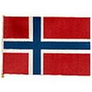 Partypro FL130-23 Norway Handheld Flag (4X6 In.)