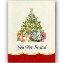 Partypro 39506 Discontinued Vintage Christmas Invite