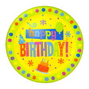 Partypro 1DPL2632 Birthday Fun Dots Dinner Plate (9In.)