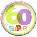 Partypro 1PL2760 The Big Day! 60Th Dessert Plate (7In.)