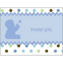 Partypro 1THK3586 Tickled Blue Thank You Note