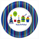 Partypro 1DPL2512 Shine Celebrate Dinner Plates
