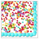 FROSTED CAKE BEVERAGE NAPKIN