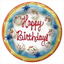 Partypro 1DPL2664 Frosted Cake Dinner Plates