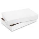 Partypro S-7096 White Gloss Apparel Box 19 X 12 X 3
