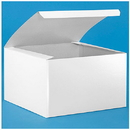 Partypro S-9694 White Gloss Gift Box 9 X 9 X 5 1/2