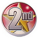 Partypro DM702 2Nd Place Adhesive Button 2