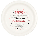 Partypro TQP-29 1929 Time To Celebrate Dinner Plate