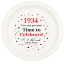 Partypro TQP-32 1934 Time To Celebrate Dinner Plate