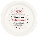 Partypro TQP-35 1939 Time To Celebrate Dinner Plate 8/Pk