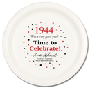 Partypro TQP-38 1944 Time To Celebrate Dinner Plate