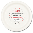 Partypro TQP-41 1949 Time To Celebrate Dinner Plate