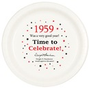 Partypro TQP-47 1959 Time To Celebrate Dinner Plate