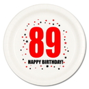 Partypro TQP-117 89Th Birthday Dessert Plate 8-Pkg
