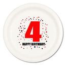 4TH BIRTHDAY DINNER PLATE 8-PKG