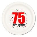 Partypro TQP-224 75Th Birthday Dinner Plate 8-Pkg