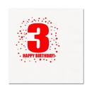 3RD BIRTHDAY LUNCHEON NAPKIN 16-PKG