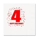 Partypro TQP-252 4Th Birthday Luncheon Napkin 16-Pkg