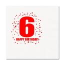 Partypro TQP-254 6Th Birthday Luncheon Napkin 16-Pkg