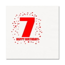 Partypro TQP-255 7Th Birthday Luncheon Napkin 16-Pkg