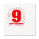 Partypro TQP-257 9Th Birthday Luncheon Napkin 16-Pkg