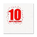 Partypro TQP-258 10Th Birthday Luncheon Napkin 16-Pkg