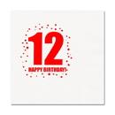 Partypro TQP-260 12Th Birthday Luncheon Napkin 16-Pkg