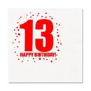 Partypro TQP-261 13Th Birthday Luncheon Napkin 16-Pkg
