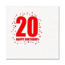Partypro TQP-268 20Th Birthday Luncheon Napkin 16-Pkg