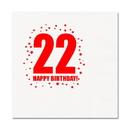 Partypro TQP-270 22Nd Birthday Luncheon Napkin 16-Pkg