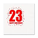 Partypro TQP-271 23Rd Birthday Luncheon Napkin 16-Pkg