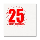 Partypro TQP-273 25Th Birthday Luncheon Napkin 16-Pkg