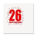 Partypro TQP-274 26Th Birthday Luncheon Napkin 16-Pkg