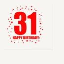 Partypro TQP-279 31St Birthday Luncheon Napkin 16-Pkg