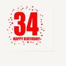 Partypro TQP-282 34Th Birthday Luncheon Napkin 16-Pkg