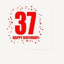 Partypro TQP-285 37Th Birthday Luncheon Napkin 16-Pkg