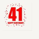 Partypro TQP-289 41St Birthday Luncheon Napkin 16-Pkg