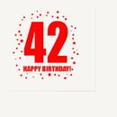 Partypro TQP-290 42Nd Birthday Luncheon Napkin 16-Pkg