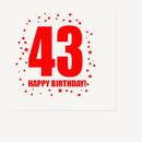 Partypro TQP-291 43Rd Birthday Luncheon Napkin 16-Pkg