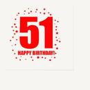 Partypro TQP-299 51St Birthday Luncheon Napkin 16-Pkg
