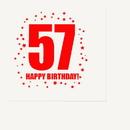Partypro TQP-305 57Th Birthday Luncheon Napkin 16-Pkg