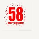 Partypro TQP-306 58Th Birthday Luncheon Napkin 16-Pkg